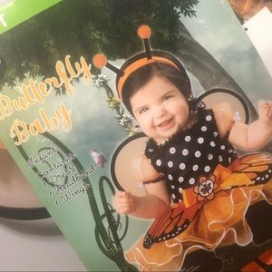 Butterfly baby Halloween costume 6-12 months New!